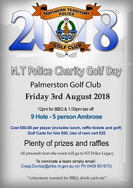 NT Police Golf Club – $10,000 donation from Golf Day 2018!