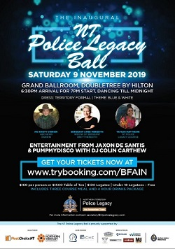 The inaugural NT Police Legacy Inc Ball